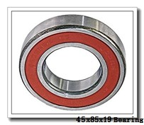 45 mm x 85 mm x 19 mm  KBC 6209 deep groove ball bearings