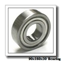 90 mm x 160 mm x 30 mm  NKE QJ218-N2-MPA angular contact ball bearings