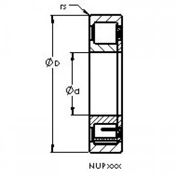 AST NUP308 ETN cylindrical roller bearings