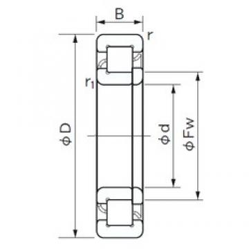 105 mm x 190 mm x 36 mm  NACHI NUP 221 cylindrical roller bearings