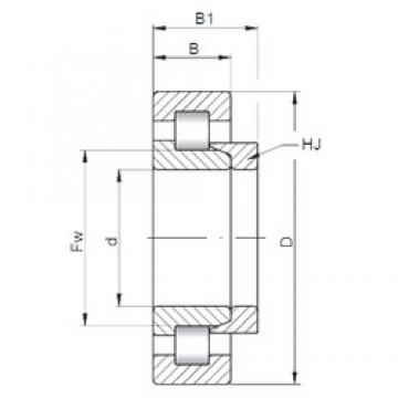40 mm x 90 mm x 23 mm  Loyal NH308 E cylindrical roller bearings