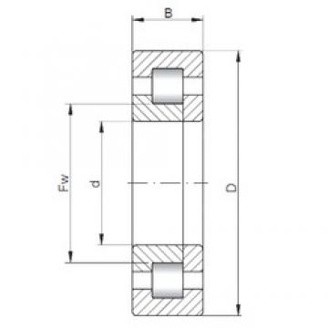 40 mm x 90 mm x 23 mm  ISO NUP308 cylindrical roller bearings