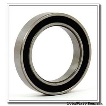 105 mm x 190 mm x 36 mm  NSK NJ221EM cylindrical roller bearings