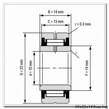10 mm x 22 mm x 14 mm  NBS NA 4900 2RS needle roller bearings