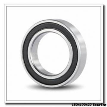150 mm x 190 mm x 20 mm  NACHI 6830 deep groove ball bearings