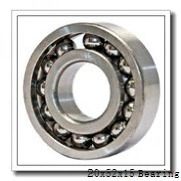 20 mm x 52 mm x 15 mm  Loyal 6304 deep groove ball bearings