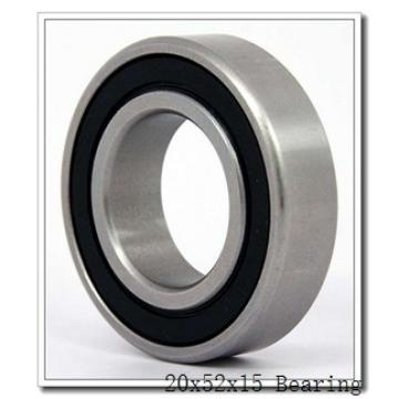 20 mm x 52 mm x 15 mm  NTN 7304BDT angular contact ball bearings