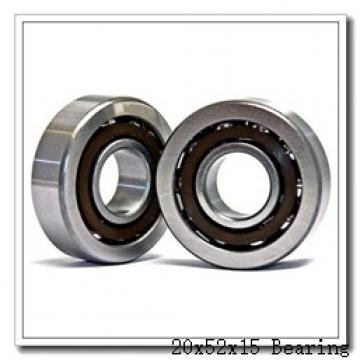 20 mm x 52 mm x 15 mm  NKE 7304-BE-TVP angular contact ball bearings
