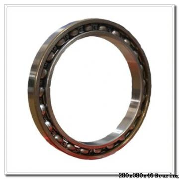 280 mm x 380 mm x 46 mm  NSK 7956CTRSU angular contact ball bearings
