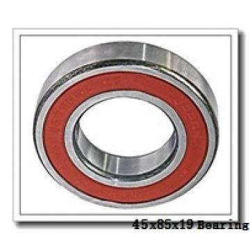 45 mm x 85 mm x 19 mm  NKE 6209-2RS2 deep groove ball bearings