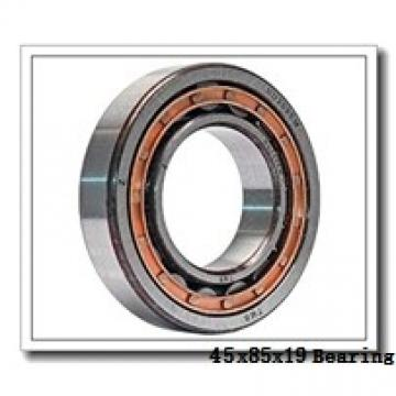 45 mm x 85 mm x 19 mm  NKE 6209-RS2 deep groove ball bearings