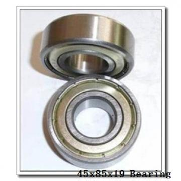 45 mm x 85 mm x 19 mm  NTN 7209CG/GNP4 angular contact ball bearings