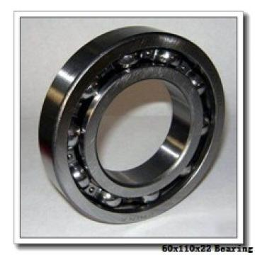 60 mm x 110 mm x 22 mm  NKE 6212-NR deep groove ball bearings