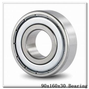 90 mm x 160 mm x 30 mm  KOYO NF218 cylindrical roller bearings