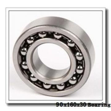 90 mm x 160 mm x 30 mm  NSK 1218 self aligning ball bearings