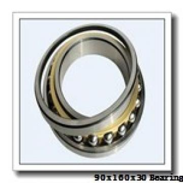 90 mm x 160 mm x 30 mm  NSK QJ218 angular contact ball bearings