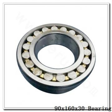90 mm x 160 mm x 30 mm  KOYO M6218 deep groove ball bearings